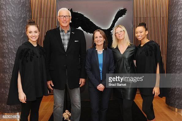 New York City Ballet dancer Mimi Staker President at PUMA North America Jay Piccola Executive Director of the New York City Ballet Kathy Brown Head...