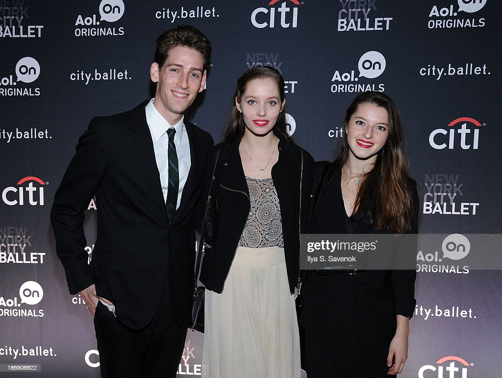 New York City Ballet dancers Cameron Dieck, Unity Phelan and Indiana Woodward attend the New York series premiere of 'city.ballet.' at Tribeca Cinemas on November 4, 2013 in New York City.