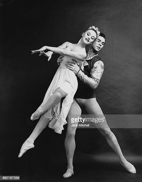 New York City Ballet dancers Violette Verdy and Jacques d'Amboise performing Tchaikowsky's Pas de Deux in 1961