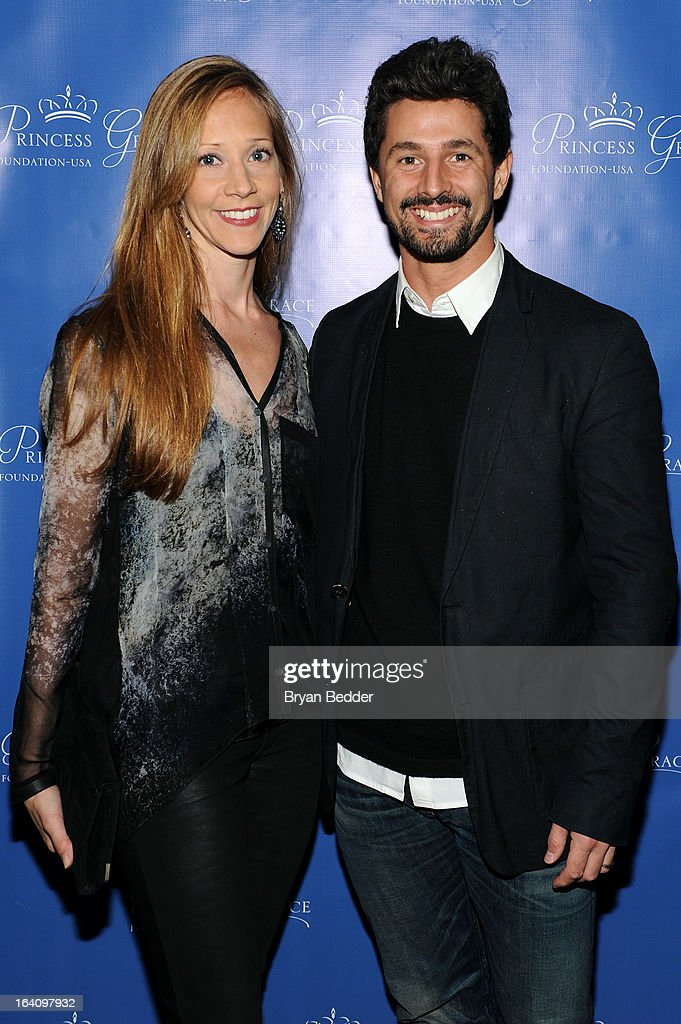 New York City Ballet principal dancer, Maria Kowroski and Martin Harvey attend the Kick Off Event for the Princess Grace Foundation - USA Guild, For Emerging Theatre, Dance & Film Artists at Blue Ribbon Kanpai Garden, Thompson LES Hotel on March 19, 2013 in New York City.