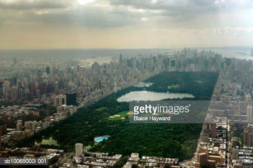 USA, New York City, Central Park, aerial view