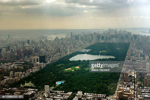 USA, New York City, Central Park, aerial view
