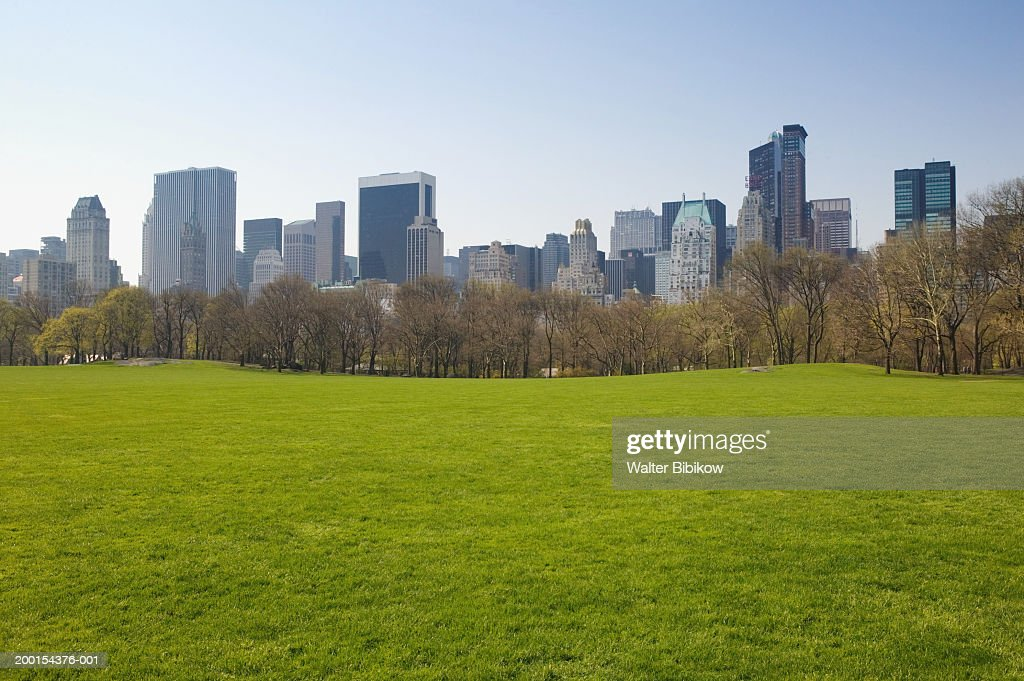 USA, New York City, Central Park, Sheeps Meadow, spring : Stock Photo