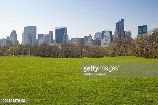 USA, New York City, Central Park, Sheeps Meadow, spring : Stock Photo
