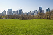 USA, New York City, Central Park, Sheeps Meadow, spring