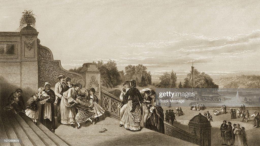 New York City Central Park 'The Terrace' circa 1872