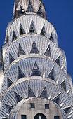 USA, New York City, Chrysler Building, close-up of top part