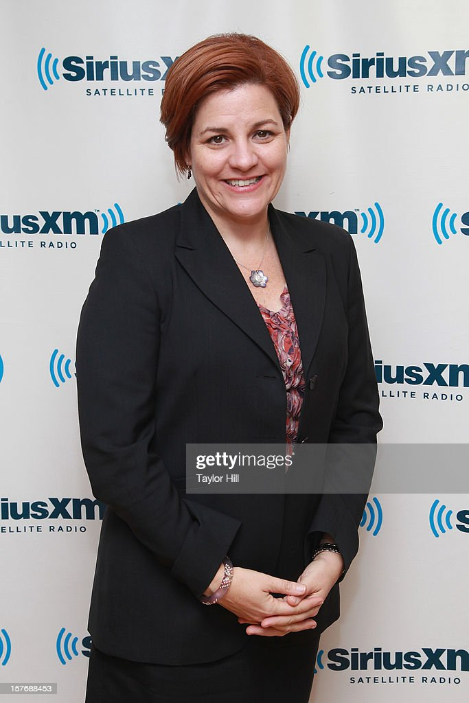 New York City Council President Christine Quinn visits Norma Kamali for her SiriusXM special 'Norma Kamali Presents: Hey Baby' at the SiriusXM Studios on August 21, 2012 in New York City. The special aired on December 5, 2012.