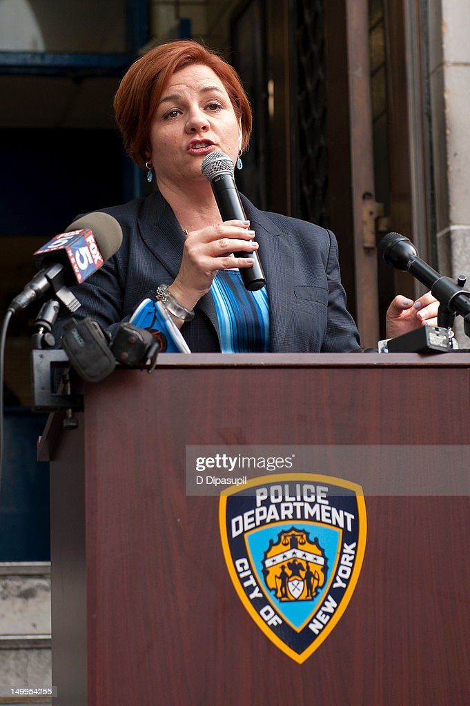 New York City Council Speaker Christine C. Quinn attends National Night Out on the streets of Manhattan on August 7, 2012 in New York City.