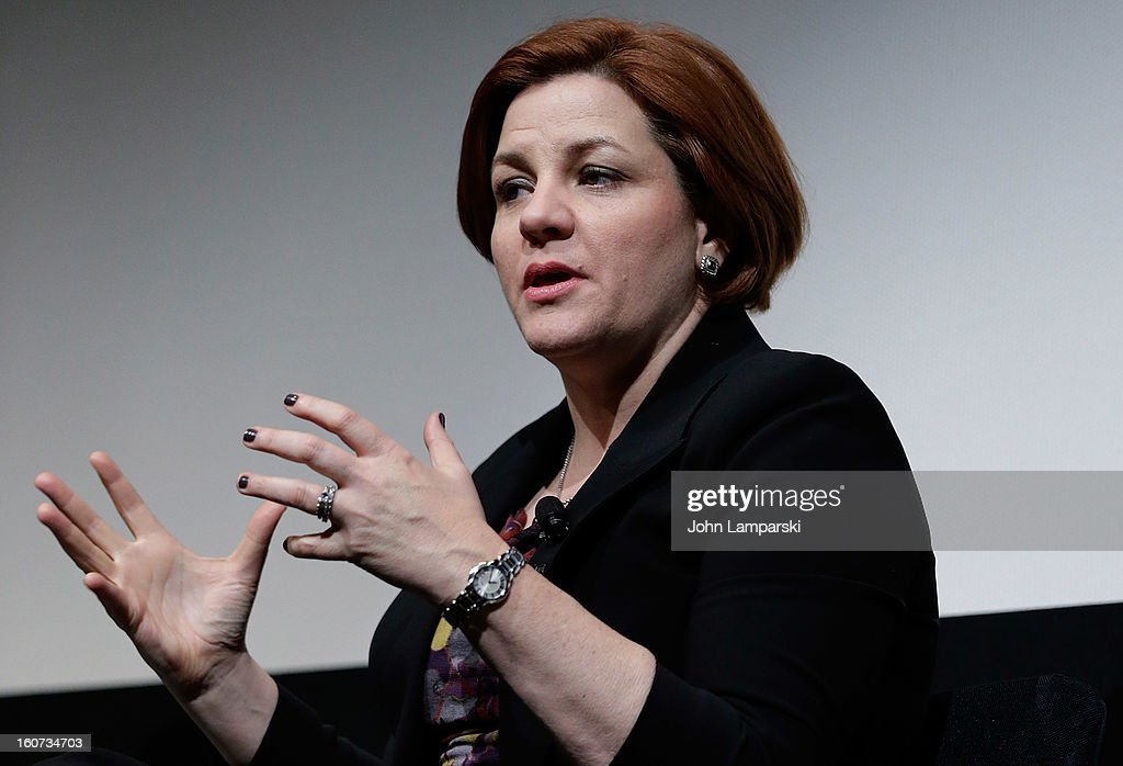 New York City Council Speaker <a gi-track='captionPersonalityLinkClicked' href=/galleries/search?phrase=Christine+Quinn&family=editorial&specificpeople=550180 ng-click='$event.stopPropagation()'>Christine Quinn</a> attends Same-Sex Marriage: Law & Culture Press Conference With Debra Messing at Time Warner Screening Room on February 4, 2013 in New York City.