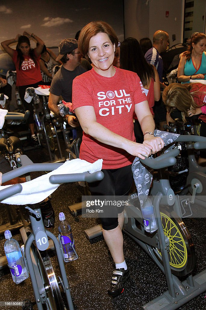 New York City Council Speaker Christine Quinn attends SoulCycle's Soul Relief Rides at SoulCycle Tribeca on November 11, 2012 in New York City.