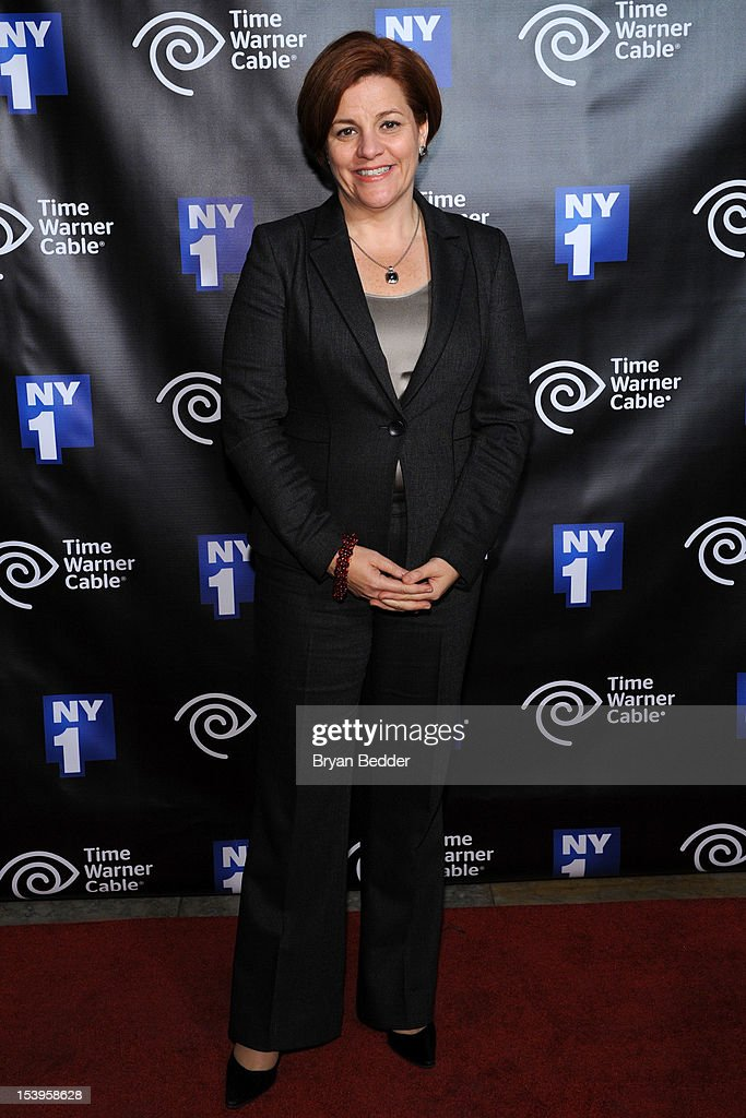 New York City Council Speaker Christine Quinn attends the NY1 20th Anniversary party, in celebration of two decades of the New York City news channel at New York Public Library on October 11, 2012 in New York City.