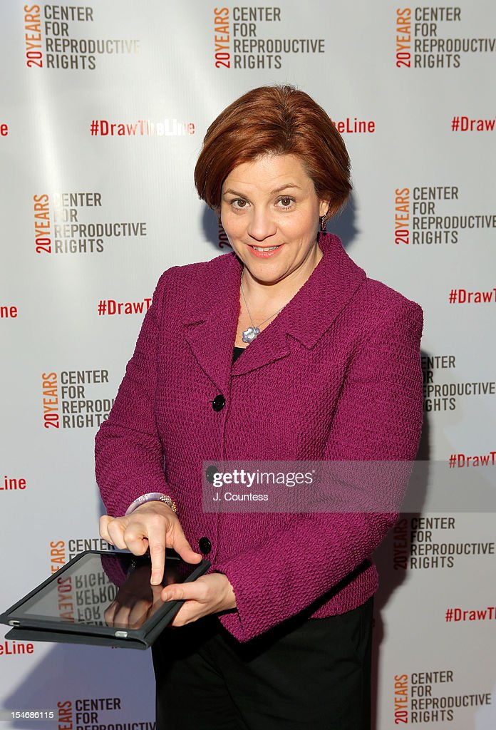 New York City Council Speaker Christine Quinn signs the Reproductive Bill of Rights during the Center For Reproductive Rights Inaugural Gala at Jazz at Lincoln Center on October 24, 2012 in New York City.