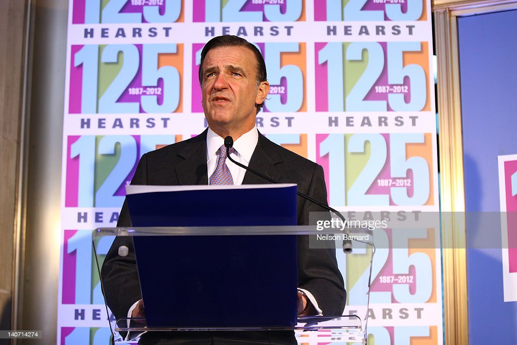 New York City Deputy Mayor Robert Steel attends the Hearst 125th Anniversary press conference to announce Hearst Tower's new LEED Platinum status and the unveiling of a street sign temporarily renaming the company's global headquarters 'Hearst Place' at Hearst Tower on March 5, 2012 in New York City.