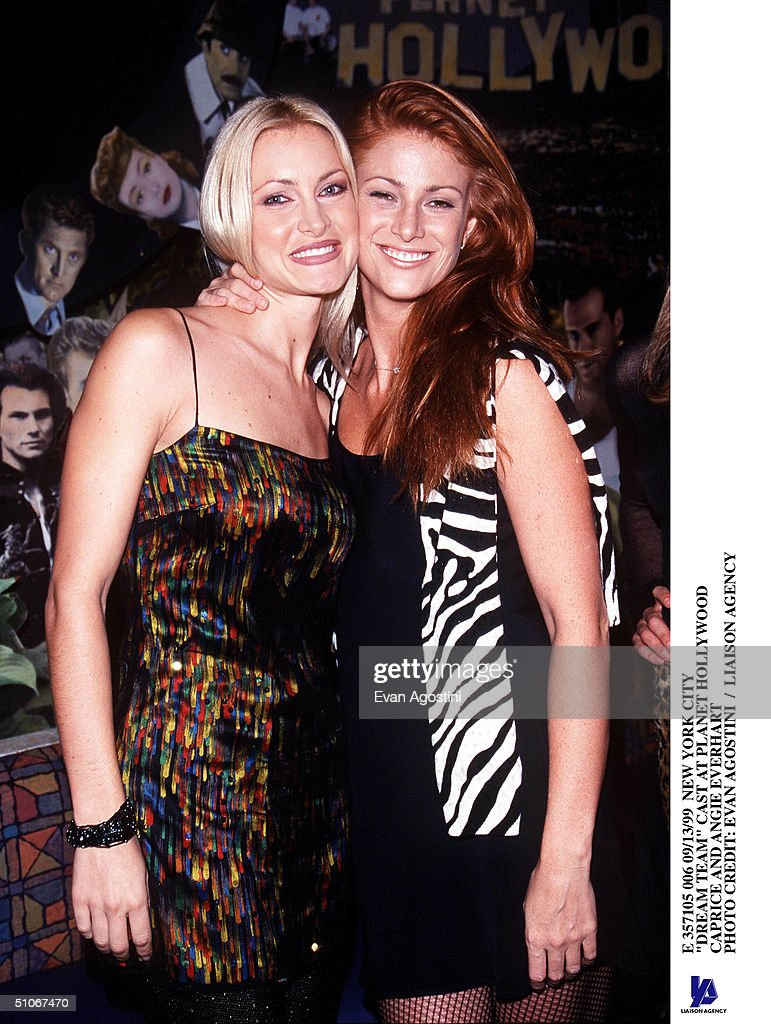 New York City 'Dream Team' Cast At Planet Hollywood Caprice And Angie Everhart