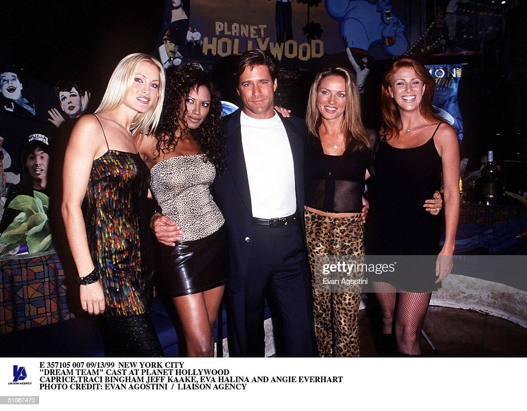 New York City 'Dream Team' Cast At Planet Hollywood CapriceTraci Bingham Jeff Kaake Eva Halina And Angie Everhart