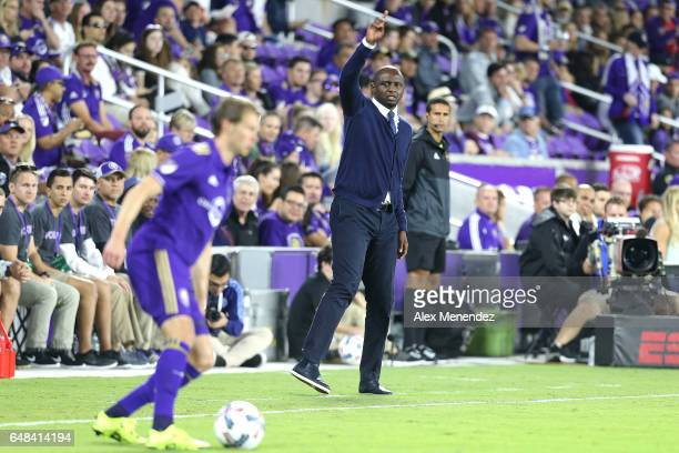 New York City FC head coach Patrick Vieira is seen on the sideline during a MLS soccer match between New York City FC and Orlando City SC at the...