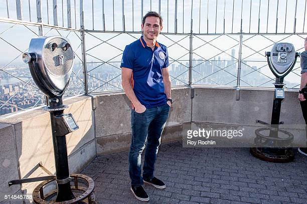 New York City FC Midfielder Frank Lampard visits The Empire State Building on March 9 2016 in New York City
