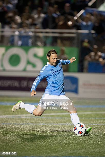 New York City FC player Ned Grabavoy during the penalty kicks during the Soccer 2015 Lamar Hunt US Open Cup Fourth Round New York City FC vs NY...