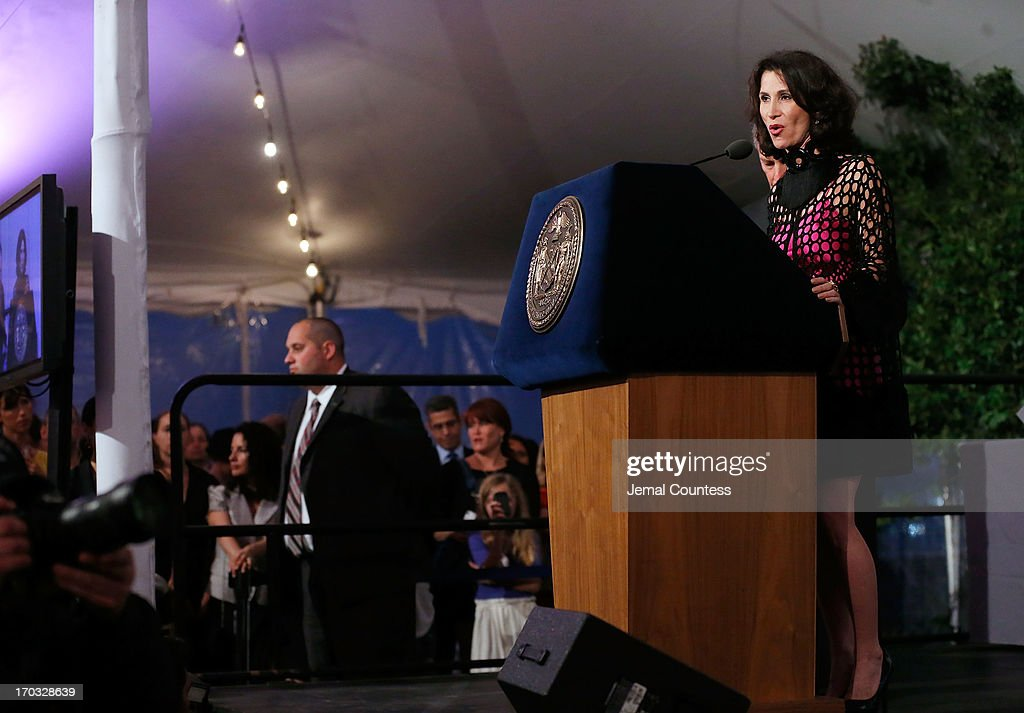 New York City Film Commissioner <a gi-track='captionPersonalityLinkClicked' href=/galleries/search?phrase=Katherine+Oliver&family=editorial&specificpeople=207056 ng-click='$event.stopPropagation()'>Katherine Oliver</a> speaks at the 8th Annual 'Made In NY Awards' at Gracie Mansion on June 10, 2013 in New York City.