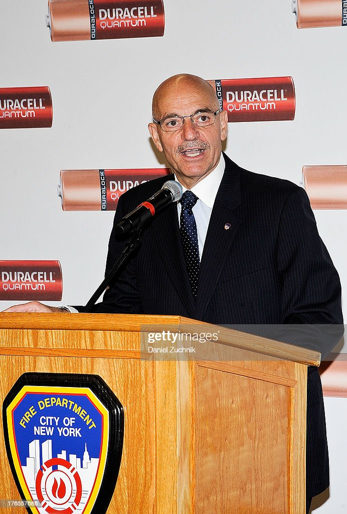New York City Fire Commissioner Salvatore Cassano attends the 'Quantum Heroes' premiere at Engine 33, Ladder 9 on August 15, 2013 in New York City.