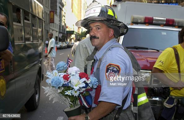 New York City firefighter in the days following the terrorist attack on the World Trade Center