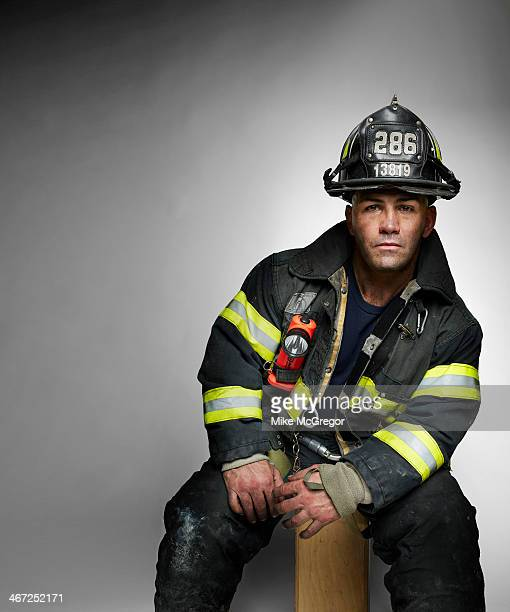 New York City firefighter Jordan Carroll is photographed for Reader's Digest on October 27 2013 in New York City COVER IMAGE