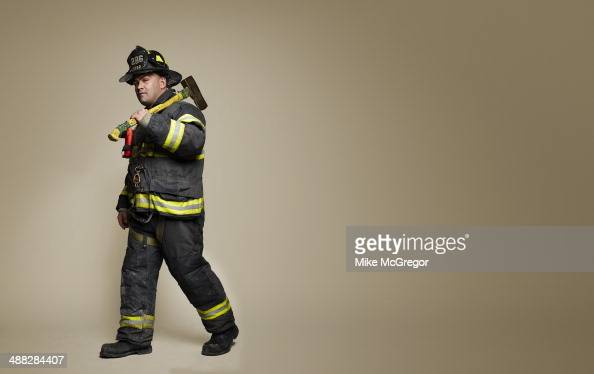 New York City firefighter Jordan Carroll is photographed for Reader's Digest on October 27 2013 in New York City PUBLISHED IMAGE
