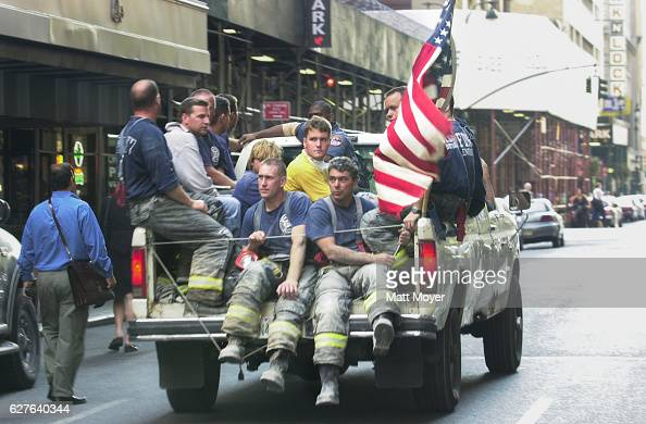 New York City firefighters in the days following the terrorist attack on the World Trade Center