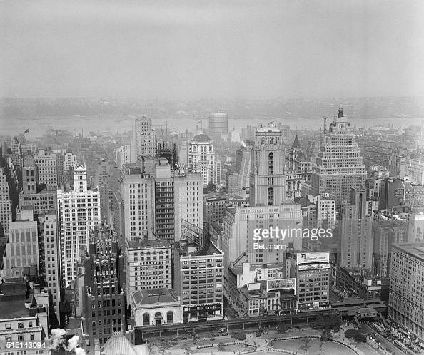 Aerial View Of Manhattan Pictures Getty Images