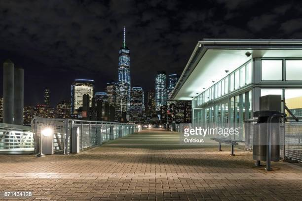 New York City Lower Manhattan and World Trade Center at Twilight