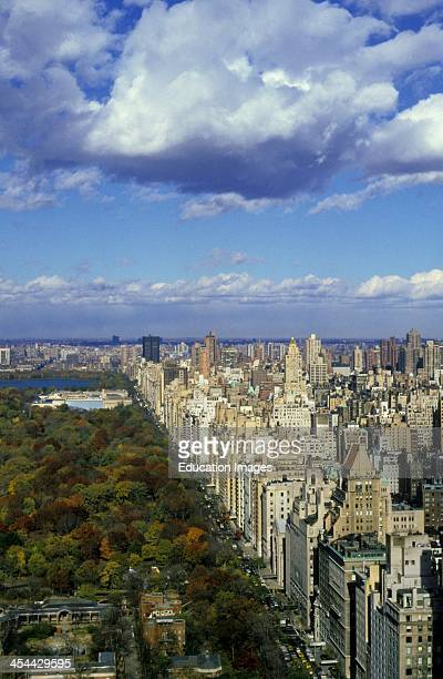 New York City Manhattan Aerial View Of Central Park And Skyline