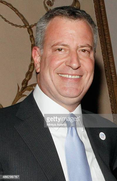 New York City Mayor Bill de Blasio attends The Hispanic Federation Gala cohosted by Mario Lopez at the Waldorf=Astoria on April 23 2014 in New York...