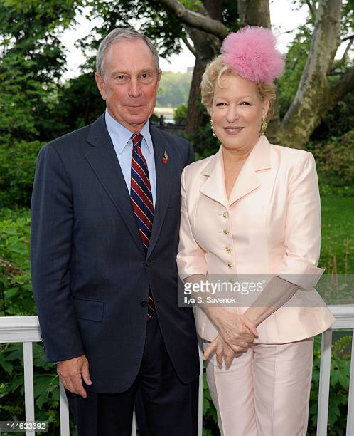 New York City Mayor Michael Bloomberg and actress Bette Midler attend the 2012 Doris C Freedman Award Ceremony at Gracie Mansion on May 16 2012 in...