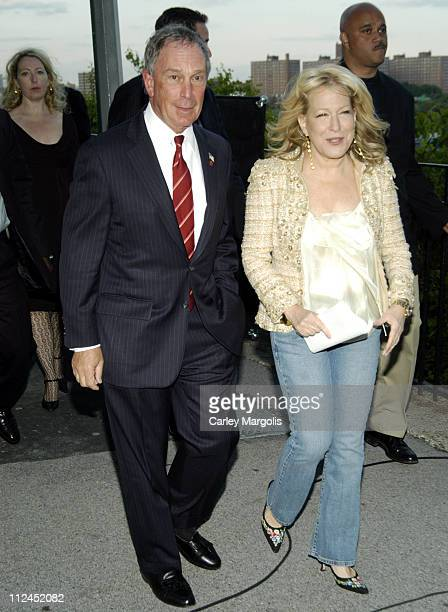 New York City Mayor Michael Bloomberg and Bette Midler