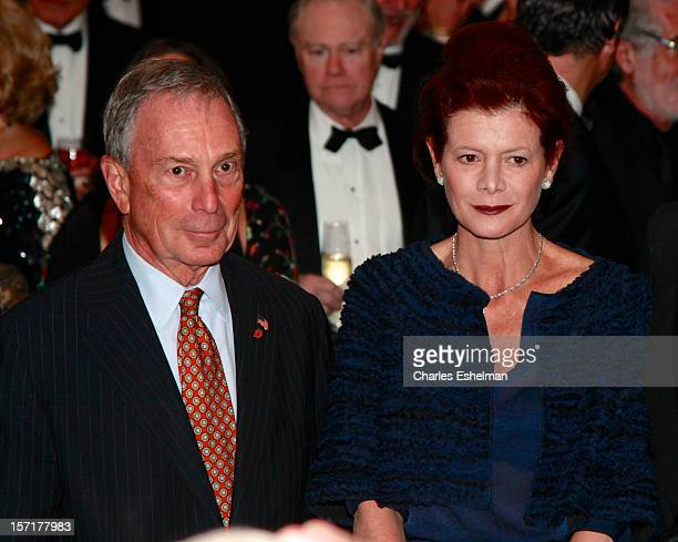 New York City Mayor Michael Bloomberg and Lady Foster of Thames Bank Elena Ochoa attend the Queen Sofia Spanish Institute 2012 Gold Medal gala at The...