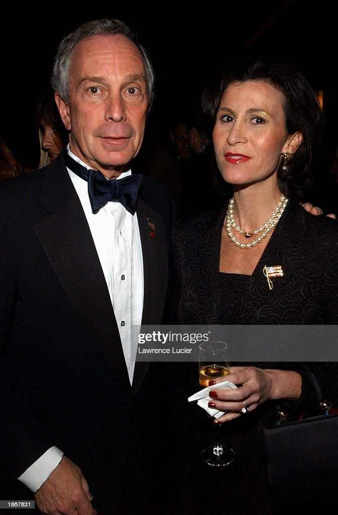 New York City Mayor Michael Bloomberg (L) and New York City Film Commissioner Katherine Oliver arrive at the official Academy of Motion Picture Arts & Sciences Oscar Night Viewing Party at Le Cirque 2000 restaurant March 23, 2003 in New York City.