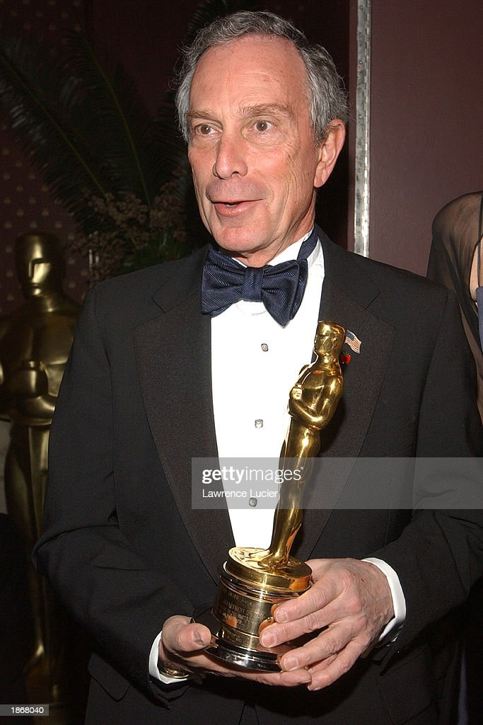New York City Mayor Michael Bloomberg arrive at the official Academy of Motion Picture Arts & Sciences Oscar Night Viewing Party at Le Cirque 2000 restaurant March 23, 2003 in New York City.