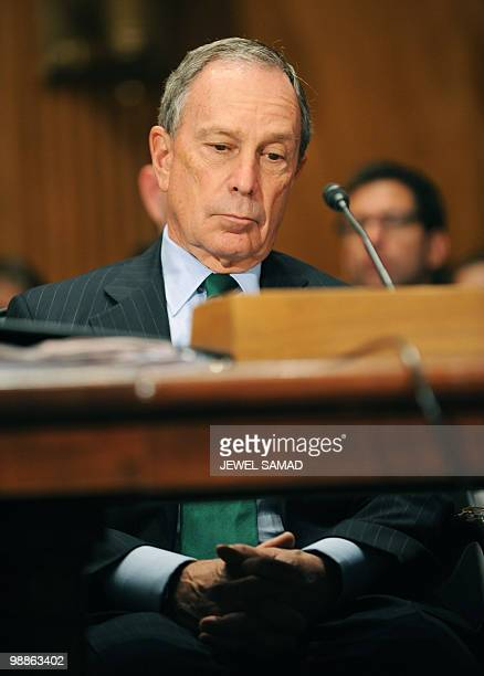 New York City Mayor Michael Bloomberg attends a hearing on 'Terrorists and Guns The Nature of the Threat and Proposed Reforms' at the Dirksen Senate...