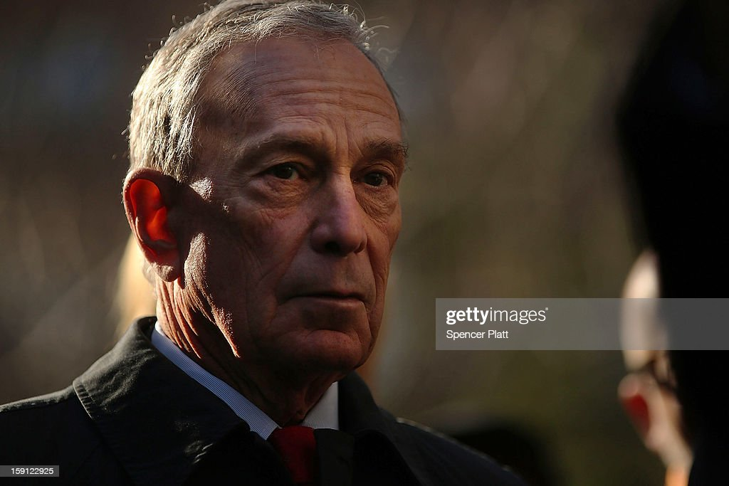 New York City Mayor <a gi-track='captionPersonalityLinkClicked' href=/galleries/search?phrase=Michael+Bloomberg&family=editorial&specificpeople=171685 ng-click='$event.stopPropagation()'>Michael Bloomberg</a> attends a news conference where it was announced that free Wi-Fi will be provided by Google to the Manhattan neighborhood of Chelsea on January 8, 2013 in New York City. Google has teamed up with the Chelsea Improvement Project, a local New York City non-profit and the city government to provide free Wi-Fi to the historic neighborhood. The network will become the largest public outdoor service of its kind in New York, and the first neighborhood in the city with free WiFi.