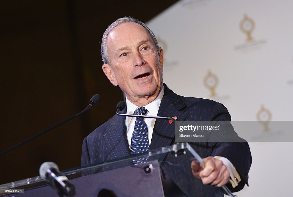 New York City Mayor <a gi-track='captionPersonalityLinkClicked' href=/galleries/search?phrase=Michael+Bloomberg&family=editorial&specificpeople=171685 ng-click='$event.stopPropagation()'>Michael Bloomberg</a> attends Grand Central Terminal 100th Anniversary Celebration at Grand Central Terminal on February 1, 2013 in New York City.