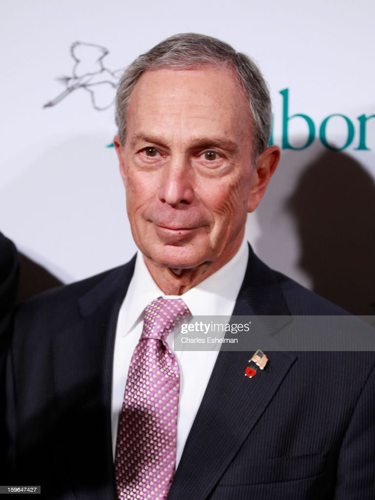 New York City Mayor <a gi-track='captionPersonalityLinkClicked' href=/galleries/search?phrase=Michael+Bloomberg&family=editorial&specificpeople=171685 ng-click='$event.stopPropagation()'>Michael Bloomberg</a> attends the 2013 National Audubon Society Gala dinner on January 17, 2013 at The Plaza Hotel in New York, City.