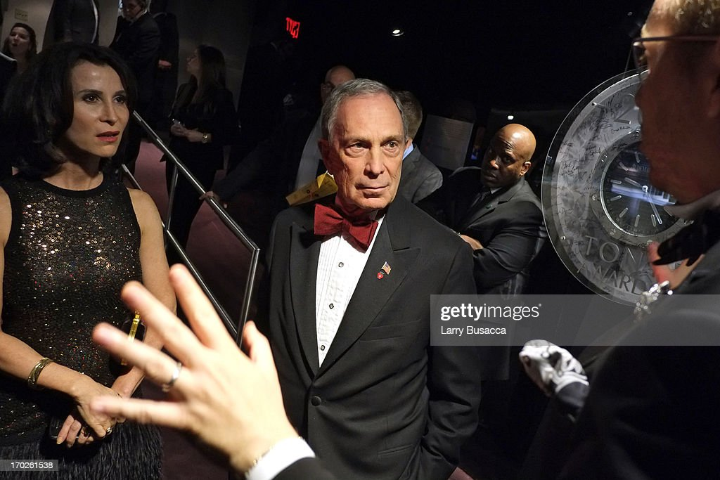 New York City Mayor <a gi-track='captionPersonalityLinkClicked' href=/galleries/search?phrase=Michael+Bloomberg&family=editorial&specificpeople=171685 ng-click='$event.stopPropagation()'>Michael Bloomberg</a> attends The 67th Annual Tony Awards Green Room at Radio City Music Hall on June 9, 2013 in New York City.