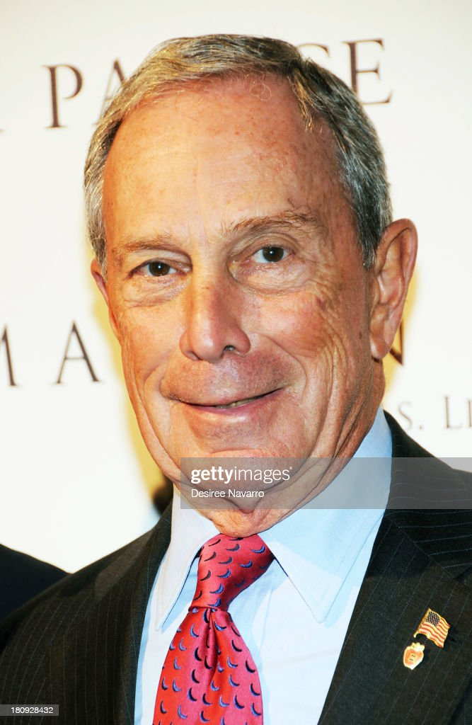 New York City Mayor <a gi-track='captionPersonalityLinkClicked' href=/galleries/search?phrase=Michael+Bloomberg&family=editorial&specificpeople=171685 ng-click='$event.stopPropagation()'>Michael Bloomberg</a> attends The New York Palace's unveiling celebration at The New York Palace Hotel on September 17, 2013 in New York City.