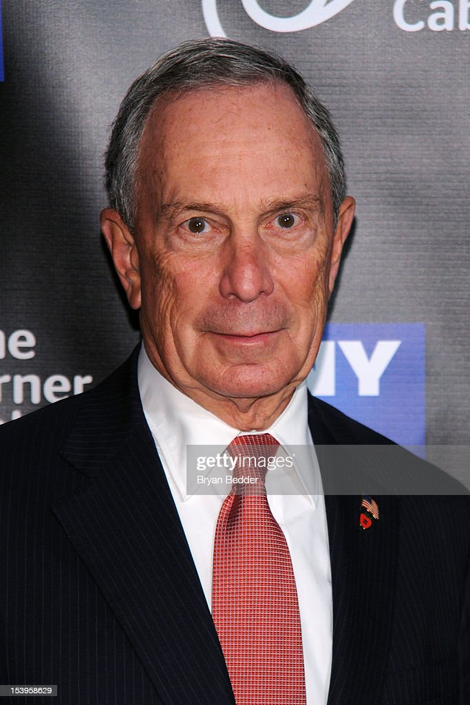 New York City Mayor <a gi-track='captionPersonalityLinkClicked' href=/galleries/search?phrase=Michael+Bloomberg&family=editorial&specificpeople=171685 ng-click='$event.stopPropagation()'>Michael Bloomberg</a> attends the NY1 20th Anniversary party, in celebration of two decades of the New York City news channel at New York Public Library on October 11, 2012 in New York City.