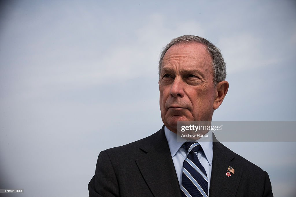 New York City Mayor <a gi-track='captionPersonalityLinkClicked' href=/galleries/search?phrase=Michael+Bloomberg&family=editorial&specificpeople=171685 ng-click='$event.stopPropagation()'>Michael Bloomberg</a> speaks at a press conference with United States Secretary for Housing and Urban Development Shaun Donovan (not seen), unveiling a Hurricane Sandy Recovery Report on August 19, 2013 in the Greenpoint neighborhood of the Brooklyn Borough of New York City. The report calls for strengthening the region's electrical grid, reinforcing coastline and protecting gas supplies.