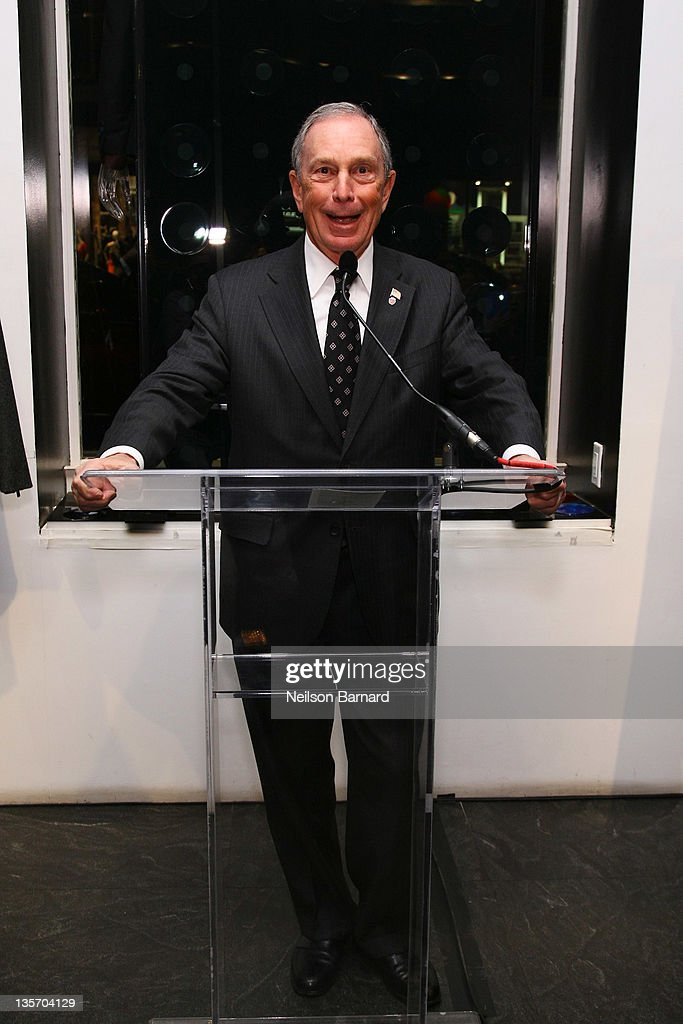 New York City Mayor <a gi-track='captionPersonalityLinkClicked' href=/galleries/search?phrase=Michael+Bloomberg&family=editorial&specificpeople=171685 ng-click='$event.stopPropagation()'>Michael Bloomberg</a> speaks during the Empire State Pride Agenda event hosted by Emporio Armani on December 12, 2011 in New York City.