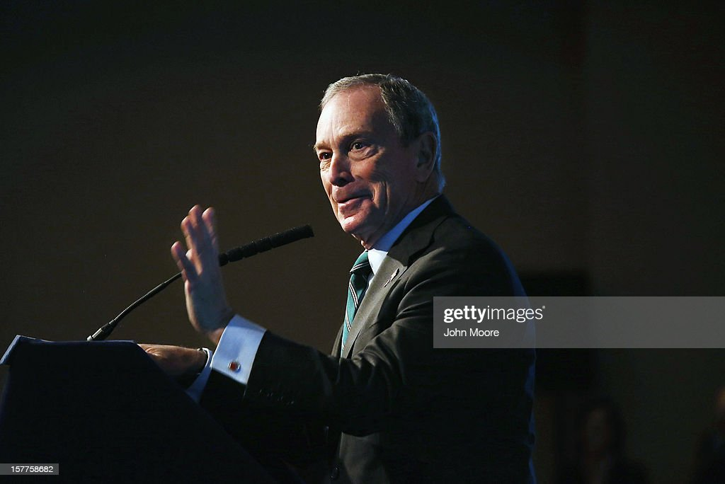 New York City Mayor <a gi-track='captionPersonalityLinkClicked' href=/galleries/search?phrase=Michael+Bloomberg&family=editorial&specificpeople=171685 ng-click='$event.stopPropagation()'>Michael Bloomberg</a> speaks on long-term challenges facing the city following Superstorm Sandy on December 6, 2012 in New York City. Bloomberg, who was introduced by former Vice President Al Gore, addressed the Regional Plan Association and the New York League of Conservation Voters in downtown New York City.