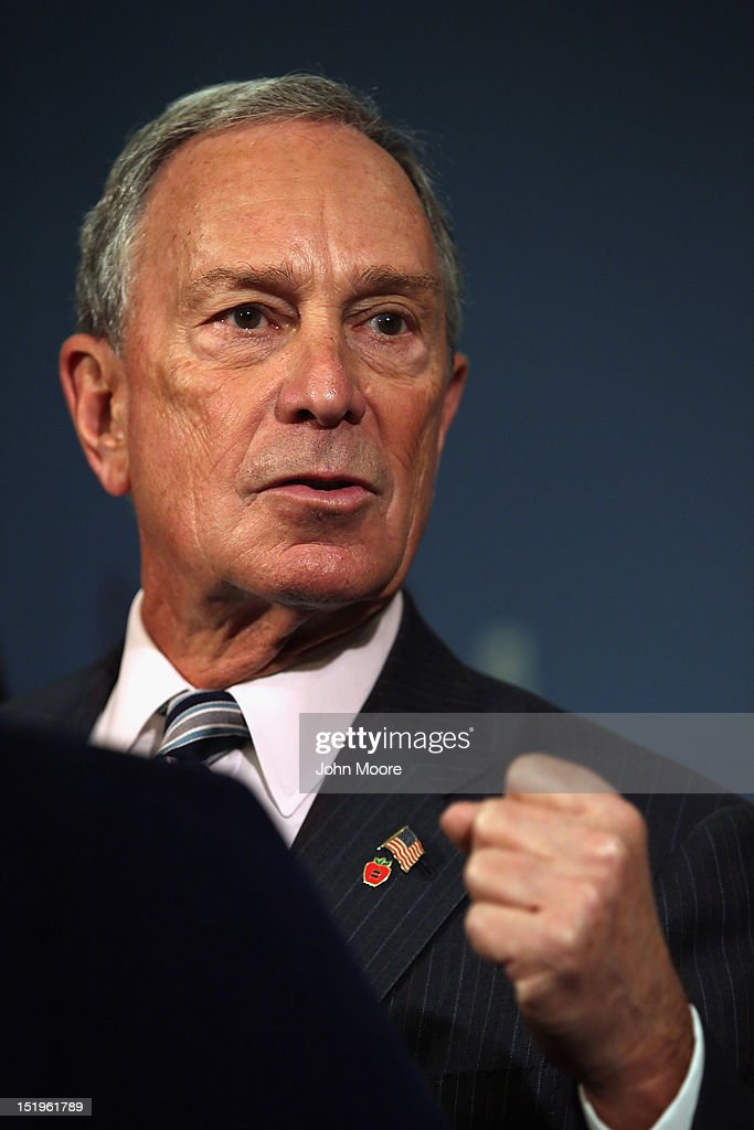 New York City Mayor Michael Bloomberg speaks to the media about the limiting of large size sugary drinks during a press conference at city hall on September 13, 2012 in New York City. The New York City Board of Health voted Friday to enact Bloomberg's proposal to limit the size of sugary beverages sold in restaurants to 16 ounces. Meanwhile, the new Barclay's Center, home of the Brooklyn Nets, decided to voluntarily adopt the city's new drink size rule, six months before the requirement goes into effect . The new rule covers restaurants, mobile food carts, delis, movie theaters, stadiums and arenas in New York City, but not convenience stores.