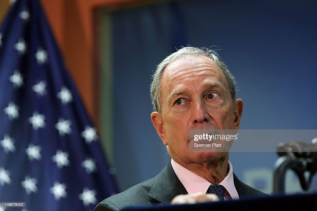 New York City Mayor <a gi-track='captionPersonalityLinkClicked' href=/galleries/search?phrase=Michael+Bloomberg&family=editorial&specificpeople=171685 ng-click='$event.stopPropagation()'>Michael Bloomberg</a> speaks to the media at the opening of the Workforce1 Veterans Career center on July 31, 2012 in New York City. The center will offer area veterans assistance in their job search, help with resumes and classes on how to perfect the interview process. According to the Bureau of Labor Statistics, the unemployment rate for all veterans in June was 7.4 percent.